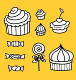Vector illustration of sweet food collection Royalty Free Stock Photo