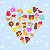 Vector illustration of sweet heart Royalty Free Stock Images
