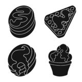 Vector illustration of sweetness and product logo. Set of sweetness and sweet stock symbol for web. Isolated object of sweetness and product icon. Collection of stock illustration