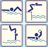 Vector illustration of a swimmer icon. Vector illustration of a swimmer Royalty Free Illustration