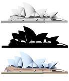 Vector illustration of the Sydney landmarks Royalty Free Stock Photography