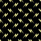 Seamless pattern. Vector illustration symbolizing force, the power. Seamless pattern with regularly repeating lightning Stock Images