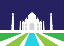 Vector Illustration of Taj Mahal. royalty free stock photography