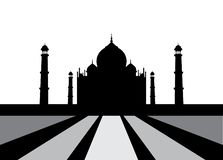 Vector Illustration of Taj Mahal. stock images