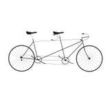 Vector illustration tandem bike. Stock Image