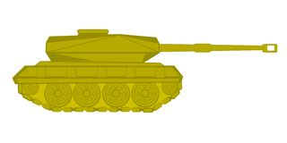 Vector illustration of the tank Royalty Free Stock Photography
