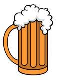 Vector illustration of tankard cartoon style. Vector illustration on pint of beer cartoon style Stock Images