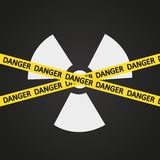 Vector illustration tape radiation hazard Royalty Free Stock Photography