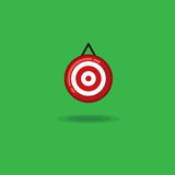 Vector illustration target on a green background Stock Images