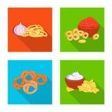 Vector design of taste and seasonin symbol. Set of taste and organic stock symbol for web. Vector illustration of taste and seasonin sign. Collection of taste royalty free illustration