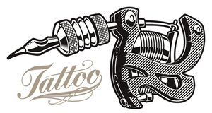 Vector illustration of a tattoo machine a white background vector illustration