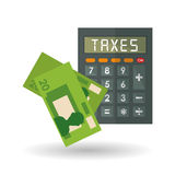 Vector illustration of Taxes , editable icon Royalty Free Stock Photo