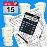 Taxes theme, finances, vector illustration Stock Photos
