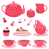 Vector illustration of tea party Stock Image