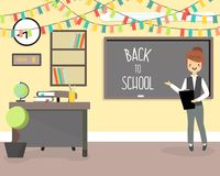 Back to school concept vector illustration in flat style Stock Image