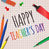 Vector illustration Teachers Day. Royalty Free Stock Images