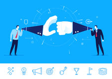 Vector illustration of teamwork. Businessman debate Stock Photo