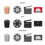 Vector illustration of television and filming sign. Collection of television and viewing stock vector illustration. Isolated object of television and filming vector illustration