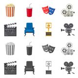 Vector design of television and filming symbol. Collection of television and viewing vector icon for stock. Vector illustration of television and filming sign vector illustration