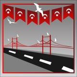 Vector illustration. 15 Temmuz demokrasi ve milli birlik gunu. Translation from Turkish : July 15 the democracy and national unity. Day. Veterans and martyrs of stock illustration