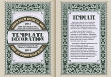 Vector illustration. Template booklet in vintage style. royalty free illustration