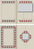 Vector illustration. Template booklet in vintage style. Stock Photography