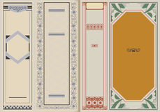 Vector illustration. Template booklet in vintage style. Royalty Free Stock Photos