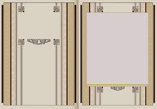 Vector illustration. Template booklet in vintage style. Template booklet in vintage style. Ready for your design. Vector illustration Royalty Free Stock Image