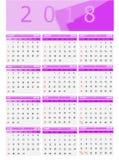 Calendar-2018 vector illustration