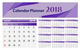 Calendar-2018 stock illustration