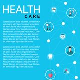 Template healthcare card stock illustration