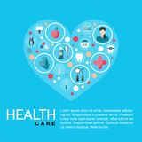 Vector Illustration. Template healthcare poster stock illustration