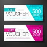 Vector illustration template special gift voucher with modern premium pattern. Vector illustration, gift voucher template with clean and modern premium pattern royalty free illustration