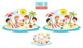 Vector Illustration Of Ten Differences. Eps 10 Stock Photos