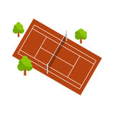 Vector illustration of tennis court Royalty Free Stock Image