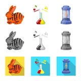 Vector design of test and synthetic sign. Collection of test and laboratory vector icon for stock. Vector illustration of test and synthetic logo. Set of test royalty free illustration