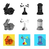 Vector design of test and synthetic symbol. Collection of test and laboratory vector icon for stock. Vector illustration of test and synthetic sign. Set of test royalty free illustration