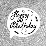 Vector illustration with text Happy Birthday Royalty Free Stock Photo