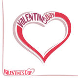 Vector illustration for text on the theme of Valentine's day Stock Photo