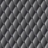 Vector drawing of the black  quilted leather Royalty Free Stock Photos