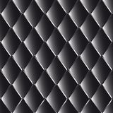 Vector drawing of the black  quilted leather Royalty Free Stock Photography