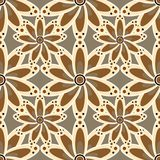 Vector illustration texture. Floral seamless pattern in brown colors. vector illustration texture Stock Photos