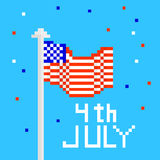 Vector illustration for 4th of july. Independence Day pixel art. Vector illustration for 4th of july royalty free illustration