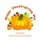 Vector illustration. Thanksgiving Pumpkin isolated Stock Photo