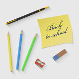 Vector illustration on the theme of  Back to school Stock Photo