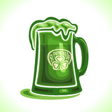 Vector illustration on the theme of beer mug for St. Patrick's Day Royalty Free Stock Photography