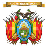 Vector illustration on theme Bolivian Coat of Arms Royalty Free Stock Photo