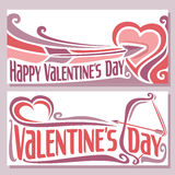 Vector illustration on the theme of cards for Valentine's day Royalty Free Stock Photography