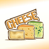 Vector illustration on the theme of cheese Royalty Free Stock Images