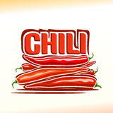 Vector illustration on the theme of  chili Stock Image